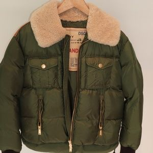 Jacket- D Squared 2- Green puffer- Size 44